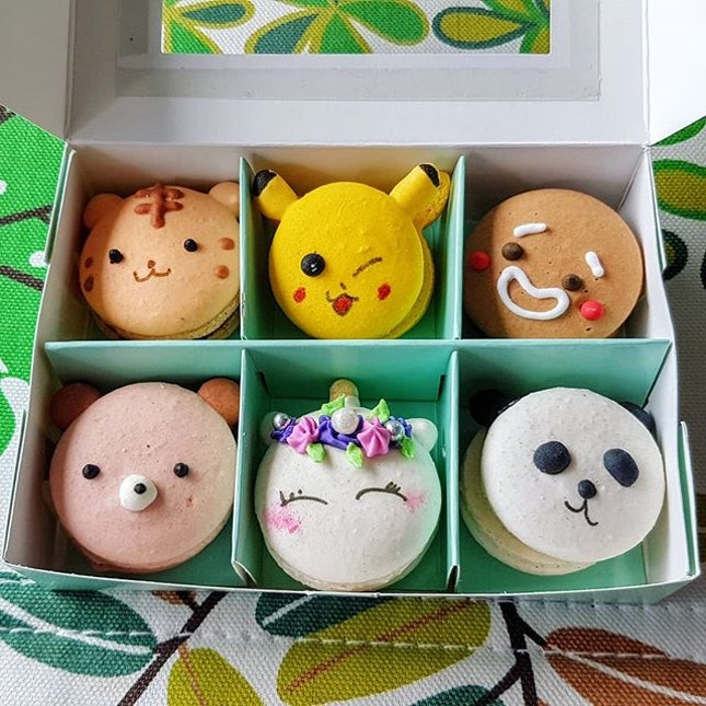 Ridiculously cute macarons at the Marina Square pop up...