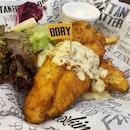 Fish 'N Chips Dory (Lite) - - - #sgfood #sgeats #sgfoodie #sgfoodporn #instafood_sg #instafoodie #foodgasm #foodphotography #sgfoodblogger #sgdines #eatoutsg #makansg #westernfoodsg #burpple #burpplesg