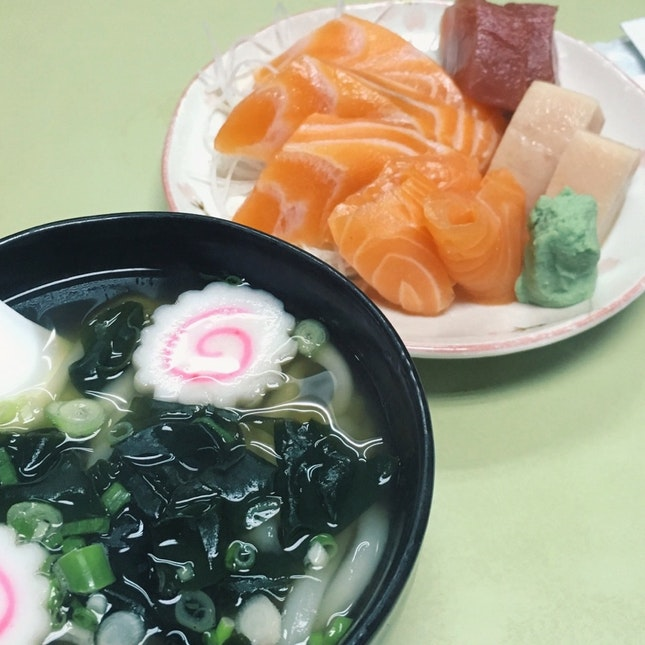 Sashimi Set With Wasabi tei's Udon