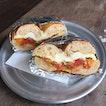 Sourdough Bagel Caprese($8)
