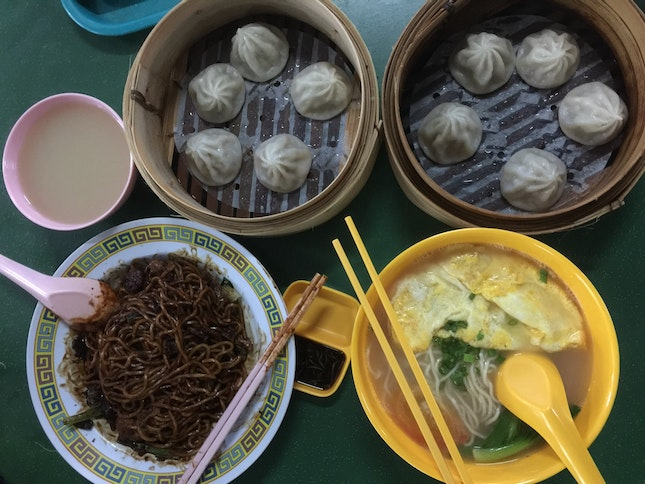 Dry Noodles, Tomato And Egg Noodles And Xlb!