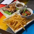 Crispy Fried Som Tam & Flame Grilled Ayam Legend