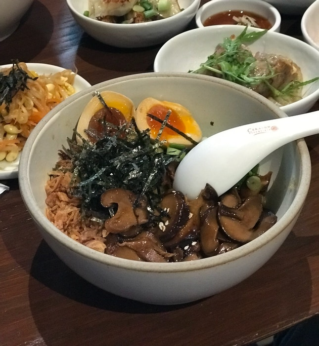 Miso Mushroom Noodles + complimentary egg