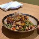 Another new dish is the Spicy Kurobuta Tempura Oroshi Chasoba ($14.90++).