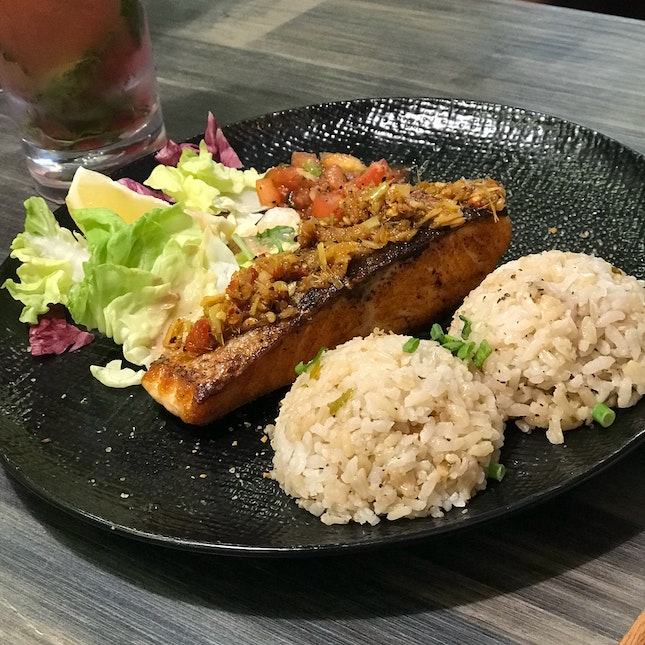 Grilled Salmon with Lemongrass & Flavoured Rice