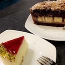 Go Green, Eat Your Fruits! (Yuzu Cheesecake & Banana W/ Chocolate Espresso Cake)
