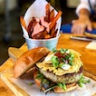 Nacho Libre Burger Plus Add-on Of Sweet Potato Fries W/ Mentaiko Sauce! ($18)