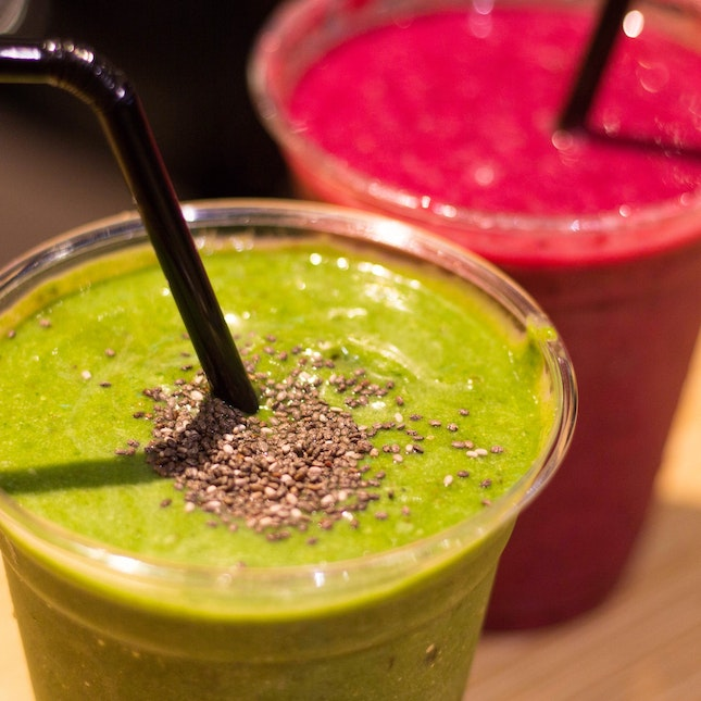 Drinks For The Healthy: Green Warrior And Açaí Super Boost!! ($7.80/cup)