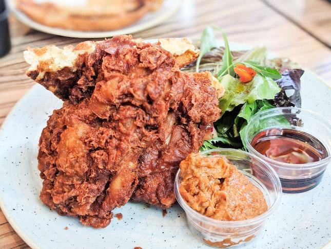 Har Cheong Gai Chicken And Waffles