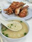 Famous Lobster Porridge in an ulu restaurant