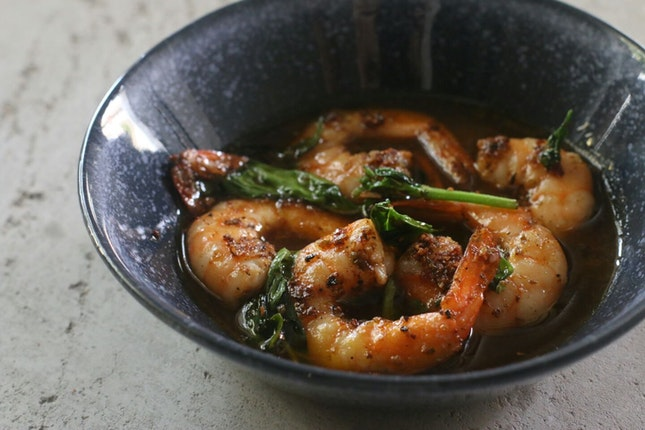 Garlic Shrimps ($12)