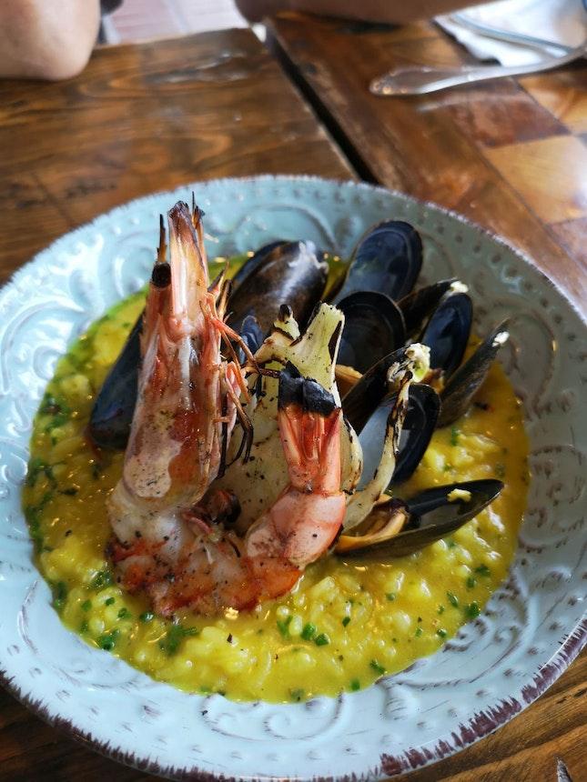 Seafood Saffron Risotto ($28)
