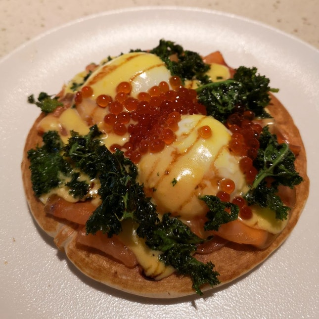 Organic Egg Blinis ($22)