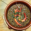 Black Rice with Grilled Mediterranean Red Prawns 🦐  By sheer luck, we managed to make a same-day reservation to celebrate Mother's Day this year.