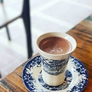 Firebake salted hot cocoa ☕  10/10 for the lovely crockery!