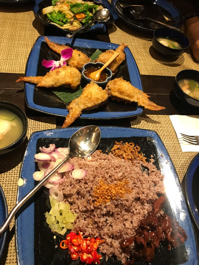 Pricey but good thai food