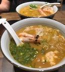 Very prawny ramen soup