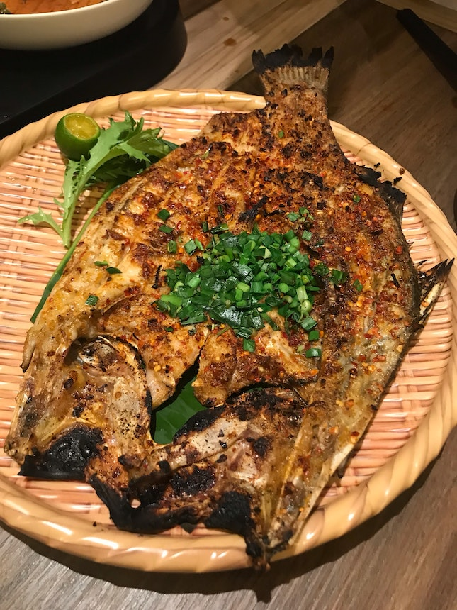 Grilled fish with lemongrass ($22.9)
