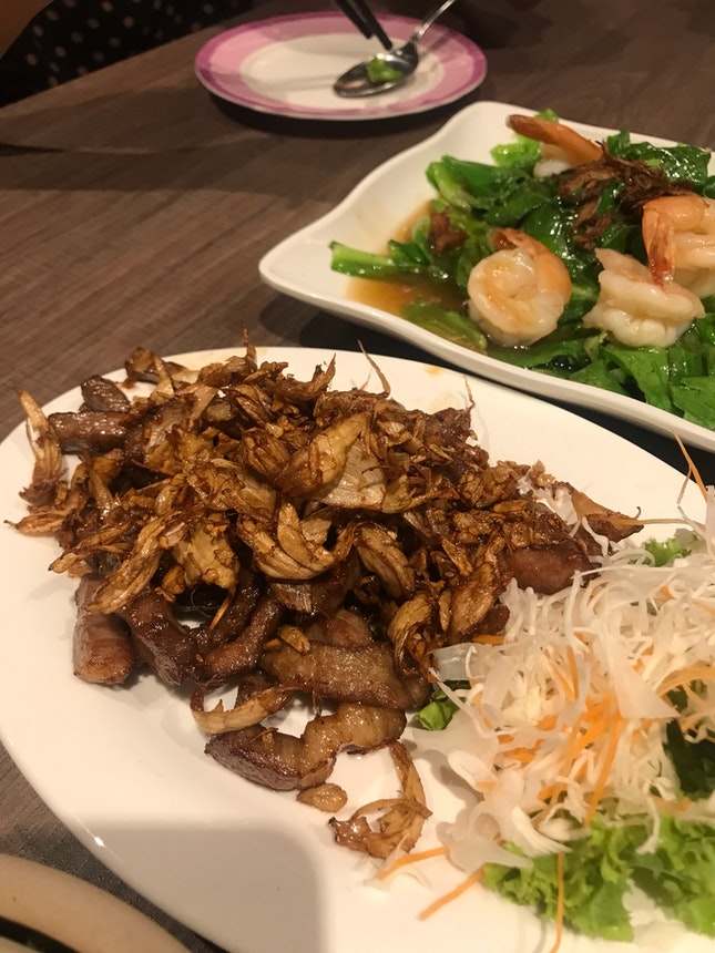 Fried garlic pork ($12)