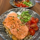 Salmon Mentai Don and Unagi Don