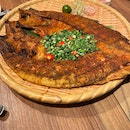 Charcoal Grilled Sea bass With Lemongrass $24.90++