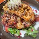 Salmon, Pistachio, Rosti $22