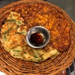 Half & Half Seafood Kimchi Pancake