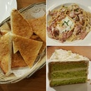Ex + n0t s0 w0w f00d..0nly the chiff0n cake is n0t bad but w0uld be better if it d0esn't taste like it needs defr0sting 🙊 #garlicbread#carbonara#coconutpandanchiffoncake#pbistro  #cafehopping#cafehoppingsg#cafesg#sgcafe #sgfood#sgfoodie#sgfoodies#igsg#desserts#dessertsftw#dessertporn#foodporn#foodstagram #whati8today#iweeklyfood#8dayseatout#openricesg#welovecleo#burpple#ginpala#eatbooksg#sgmakandiary📷:#s6edge