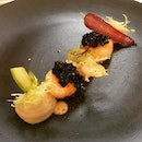 Lunch / 21 Aug 2018: scallops and caviar.