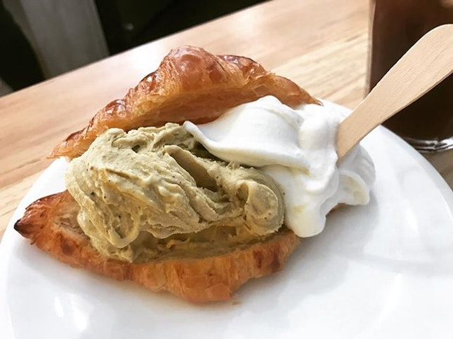 Ice cream croissant.