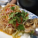 Thai mango crispy fried fish was a great 2-in-1 dish!