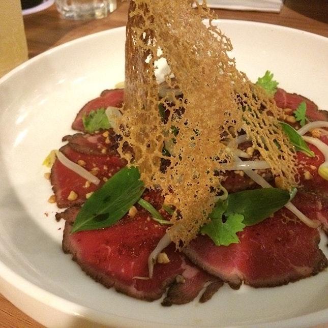 Beef carpaccio - not on menu #Gastrosmiths #sgfood #burpple