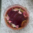 Pink Pear Elderflower Tart