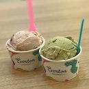 Pistachio ($5.20) & Strawberry Marshmallow ($4.70)