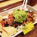 Mmmmm extra #guac in my #burrito bowl for #lunch today.
