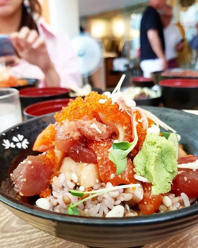 #Lunch today - #sashimi bowl from Koji #Sushi!