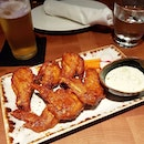 Another #throwback this time to some #buffalo wings, #craftbeer and fried sourdough #pizza!