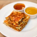[Makanista] - Mutton Prata Burger ($8.50) which is their own rendition of Ramly burger in a murtabak.