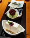 [Sun with Moon Japanese Dining] - Dessert Trio ($9.80) allows you to have the Tofu Cheesecake, Matcha Ice Cream and Kuiroguma Pudding.