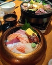 [Sun with Moon Japanese Dining] - Sun Chirashi ($35.80) is the special rice don here, luxurious with premium sashimi such as medium fatty tuna, and scallops.
