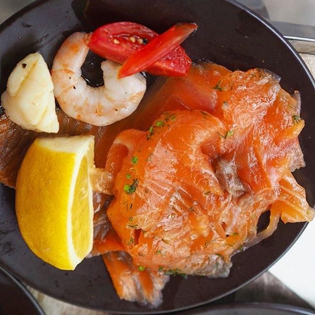 [Senso Ristorante & Bar] - Salmon from the quarterly champagne brunch spread.
