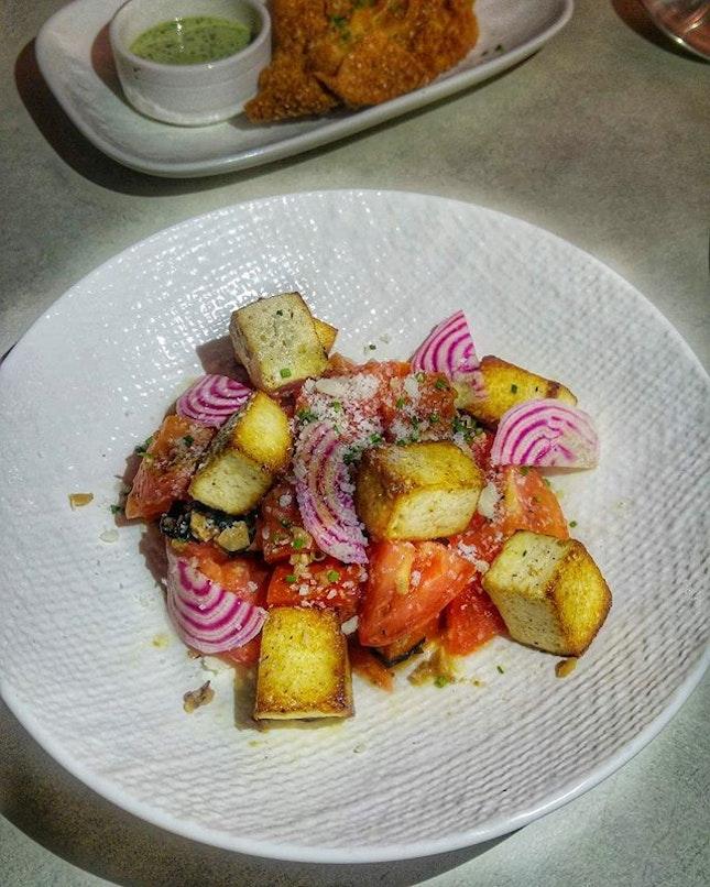 [Telok Ayer Arts Club] - Tomato & Tofu ($14) is an Asian twist on the traditional caprese salad.
