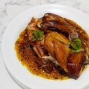 [Crystal Jade Jiang Nan] - Mala Crispy Roasted Chicken 麻辣脆皮烧鸡 ($15.80/half, $29.80/whole) served in homemade piquant 'mala' sauce.