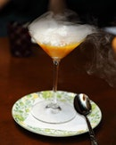 """[15 Stamford] - The Mango Pomelo Sago with Coconut Snow ($16) is an elevated inspiration of the local """"Ice Kachang"""" with the crowning of nitrogen coconut ice for a dramatic entry."""