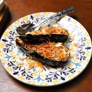 [15 Stamford] - Grilled Eggplant ($12) with almond.