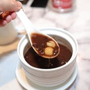 [Ho Fook Hei] - Warm Red Bean Soup with Aged Mandarin Peel and Lotus Seed ($4.50).