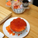 [Amazing Hokkaido] - Oder the Bursting Salmon Roe Rice Bowl ($39++) and be prepared for a spectacular sight.
