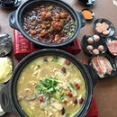 [Flaming Chicken Pot] - Travelled to Yishun to try this Flaming Chicken Pot.