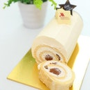 [Giveaway] - Thanks to @singaporemarriott, I will be giving away a box of Brandy White Chocolate Chestnut Log Cake.