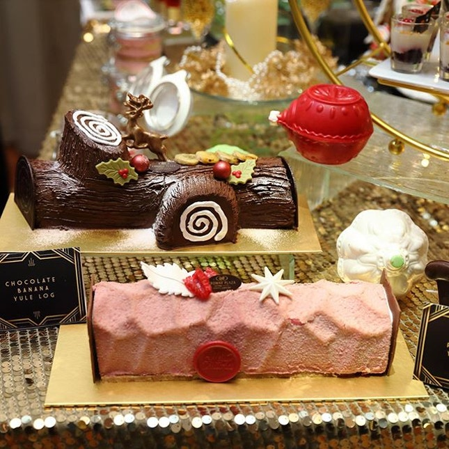 [Crowne Plaza] - Pink Ruby Yule Log and Chocolate Banana Yule Log ($68 each).